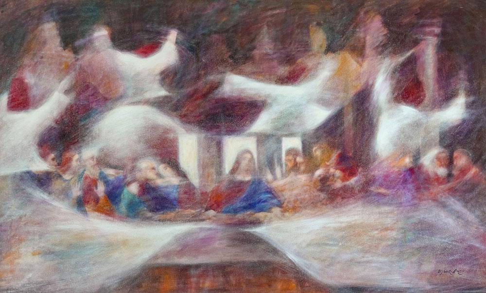 spirituelle Gemälde Acrylglas