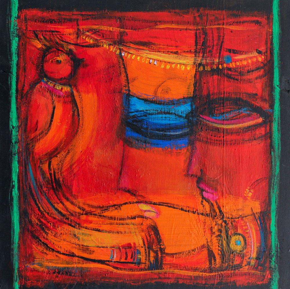 acrylbild abstrakt Ein weibliches Chaos